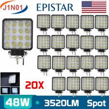 20X 48W SPOT LED Offroad Work Light Car Fog Lamp 12V 24V Truck Driving UTE 4INCH