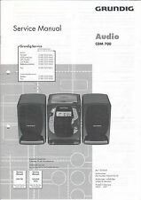 Grundig Service Anleitung Manual CDM 700  B809