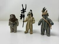 Vintage 1983 Kenner Star Wars ROTJ Ewok Lot - Chief Chirpa, Teebo, Logray