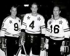 Gordie Howe, Bobby Hull, Jean Beliveau Nhl All Stars Game 8x10 Photo
