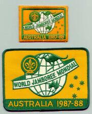 1987 World Scout Jamboree OFFICIAL PARTICIPANTS Patch & Backpatch BP SET