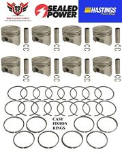 SEALED POWER FORD 390 FE V8 HYPEREUTECTIC PISTONS WITH HASTINGS RINGS 61 - 70