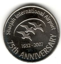 United Arab Emirates 2007 Sharjah International Airport UNC Dirham Commemorativ