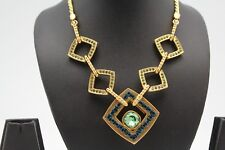 Lot of 7 Swarovski Elements Gold Plated Sparkling Necklace by Crystallized