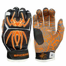 Spiderz 2020 Hybrid Baseball/Softball Batting Gloves - Black/Orange/White - S