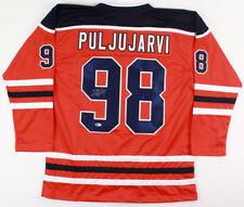 Jesse Puljujarvi Signed Oilers Jersey (Beckett Coa) #4 Overall Pick 2016 Draft