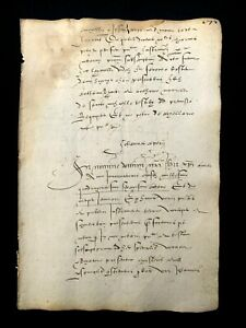 MEDIEVAL DOCUMENT IN LATIN 1468