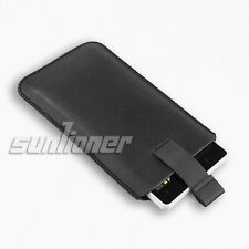 Pull-Tab Leather Case Skin Cover Sleeve Pouch For HTC One M8