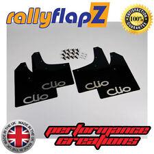 rallyflapz RENAULT CLIO MK2 (98-05) PARAFANGHI NERO LOGO ARGENTO 3mm PVC