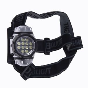 Phare 12 LED tete Lampe Phare Zoomable Impermeable Blanc Peche M9A7