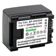 1x Kastar Battery for Canon BP-809 LEGRIA HF S100 HF S11 HF S20 HF S200 HF S21