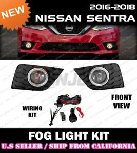 for 2016-2019 NISSAN SENTRA Fog Light Driving Lamp Kit w/ switch wiring (CLEAR)