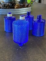 5  Cobalt Blue Diamond Point Cut Votive Sconce Cups Homco Home Interior?
