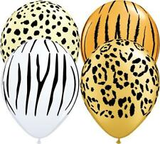 "Safari Animal Print Assorted 5"" Qualatex Latex Balloons x 10"