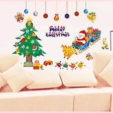 Removable Christmas Wall Stickers Santa Claus Window Display Showcase Decor