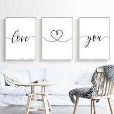 Romantic Quotes Couple Poster Minimalist Canvas Art Print Black White Picture