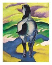 Franz Marc Blaues Pferd II Poster hochwertiger Kunstdruck Bild 66x46cm