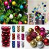 48PCS  Christmas Decorations Baubles Tree Xmas Balls Party Wedding Xmas Ornament