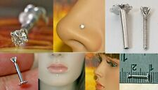 2mm 100% Natural Diamond Nose Pin Lip Labret Stud Tragus Earring Piercing Ring
