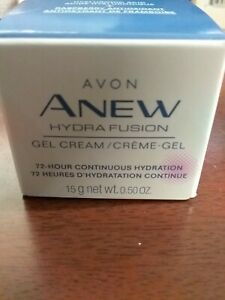 Avon Anew Hydra Fusion Gel Cream .5oz Hyaluronic Acid + Raspberry Antioxidant .5