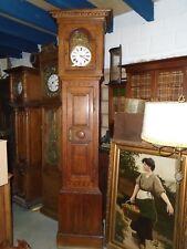 horloge de parquet, horloge comtoise ancienne, Louis XVI,  Wasmes, marqueterie