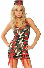 Sexy Army Soldier Military Camourflage Costume Fancy Dress Hen Party Halloween