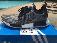 Authentic Adidas NMD CAMO R1 PRIMEKNIT GLITCH OREO GREY sz 10.5 with receipt