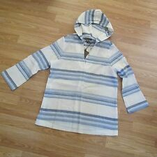 Tommy Bahama 100% Cotton Porta Stripe-Print Hooded Tunic (size M/8-10)