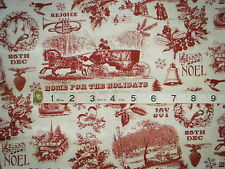 CHRISTMAS VALANCE CURTAIN WITH VINTAGE SCENES OF CHRISTMAS TIME