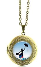 Mary Poppins Logo Glass Dome Locket Pendant Necklace