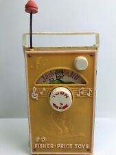 Vintage Fisher Price Toys - Jack and Jill Music Box Tv Radio #155 (1968), Works
