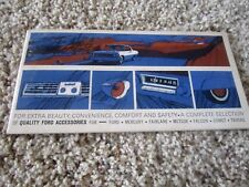 1964 Fairlane and Ford Canadian Dealer Showroom Accessories Brochure Rare Piece