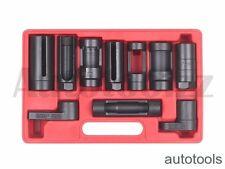 10pcs Oxygen Sensor Socket Diesel Injection Offset Ratchet Oil Pressure Tool Set