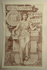 The Yale Club of New York City  Bookplate - Howard Pyle, E. D. D. French 1905