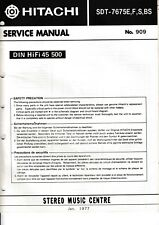 Service Manual-Anleitung für Hitachi SDT-7675