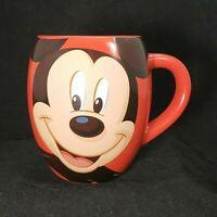 Disney Parks Mickey Mouse 'Oh Boy!' Red Coffee Tea Globe Mug Cup 20 Oz
