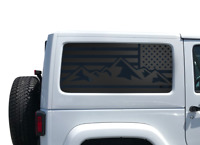 Distressed Blue line flag Hood vinyl sticker decal Jeep Police lives matter SF7