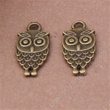 20pc Antiqued Animal Owl Pendant Charms Dangle Accessories Bead Findings S251B