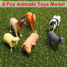 6PCS Simulation Farm Animals Big Toy Model Action Figures Kid Gift Collectibles
