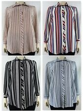 Stripe Collared Button Down Full Sleeved Shirts (Plus Sizes, 14-32)