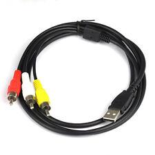 Cable USB macho a 3 RCA para AV Video Audio Equipos a HDD Reprodudor 1,5 Metros
