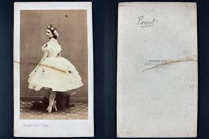 Nadar, Paris, Mademoiselle Parent, Opéra Vintage cdv albumen print.