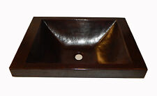 """# 78 Mexican Copper Sink Bathroom 20 x14 Inches   """"Rectangle"""""""