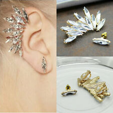 Mujer Cristal De Diamante De Imitación De Diamante Ear Cuff Pendiente A Presión