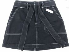 Topshop Womens Black Denim Skirt UK Size 12