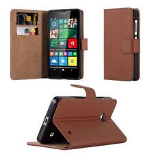Fundas y carcasas color principal marrón de piel para teléfonos móviles y PDAs Nokia