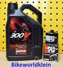 Suzuki GSX-R 1000 01-16 Öl + K&N Ölfilter Motul 300V 10w40 GSXR K5 K6 K7 K8 K9