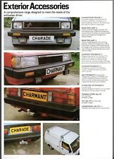 Daihatsu Exterior Accessories 1982-84 UK Market Leaflet Sales Brochure
