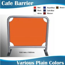 1m wide Round Tube Cafe Barriers Coffee Barriers with Plain Color Banner