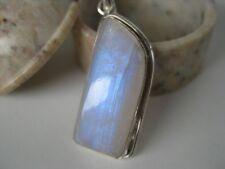 Rainbow Moonstone Silver Pendant ~ Nice mellow blue, unique